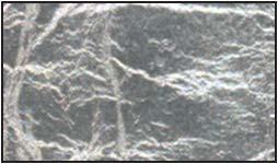 Lístkové striebro - čisté, nepodlepené, 9,5 x 9,5 cm