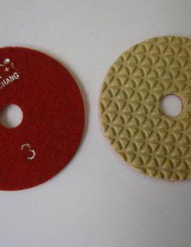 Brúsny kotúč, suchý zips, priemer 100 mm, suché brúsenie, č.3