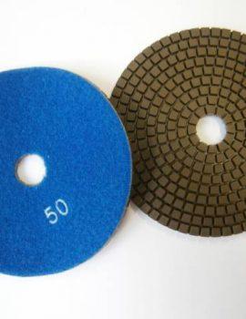Brúsne dia flex kotúče - suchý zips, priem.125 mm, keramická väzba, zrnitosť: 50