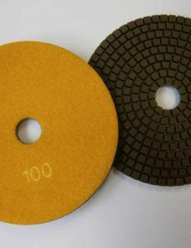 Brúsne dia flex kotúče - suchý zips, priem.125 mm, keramická väzba, zrnitosť: 100