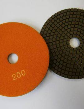 Brúsne dia flex kotúče - suchý zips, priem.125 mm, keramická väzba, zrnitosť: 200