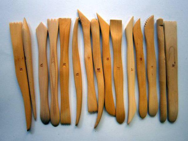 Modelárske lopatky, drevené, 15 ks